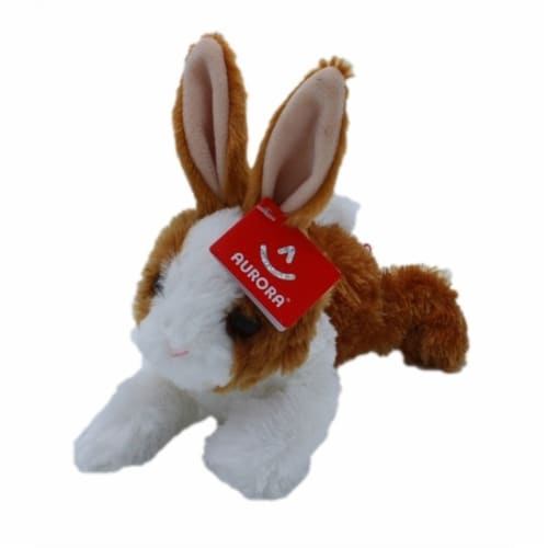 "Aurora World Plush Mini Flopsie Baby Bunny Brown 8"" Perspective: front"