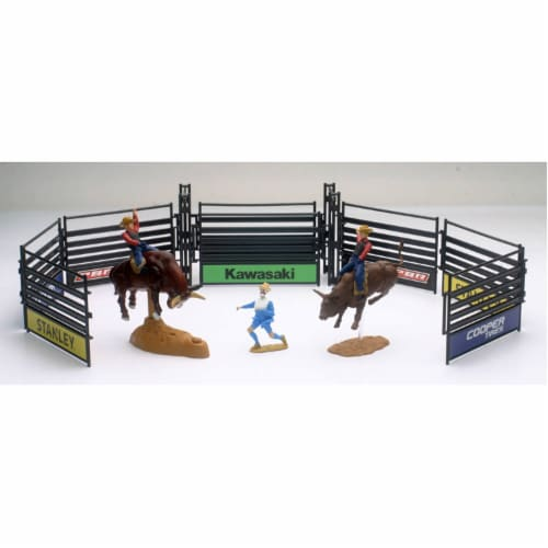 PBR Bull Riding Playset with Gate, Brown Perspective: front
