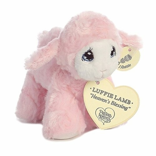 """Precious Moments Luffie Lamb """"Heaven's Blessing"""" Rattle (Pink) Perspective: front"""