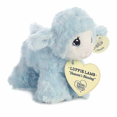 "Precious Moments Luffie Lamb ""Heaven's Blessing"" Rattle (Blue) Perspective: front"
