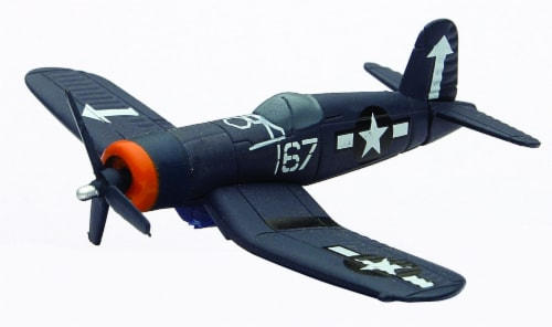 Die-Cast WWII Fighter Plane, F4U Corsair 1:190 Scale Perspective: front