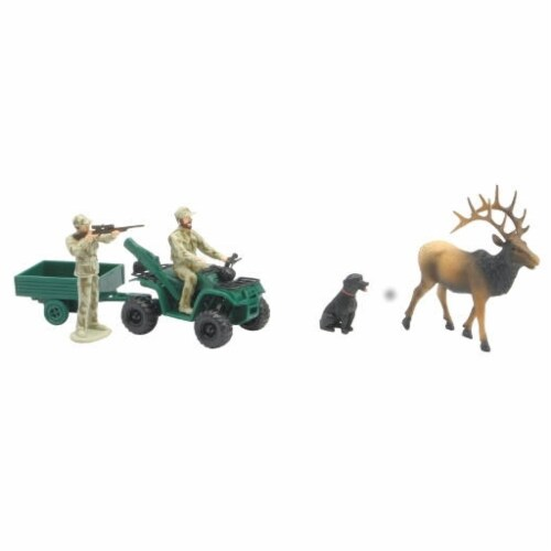 Wild Hunting Playset, Rock Mountain Elk Perspective: front