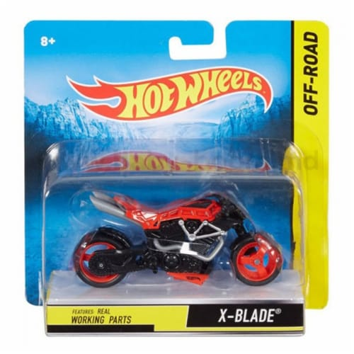 Hot Wheels 1:18 Scale Steer Power Motorcycle, X-Blade Perspective: front