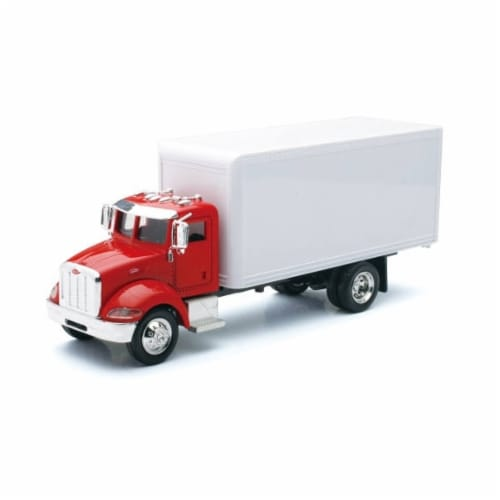 1:43 Scale Die-Cast Utility Truck, White Box Truck Perspective: front