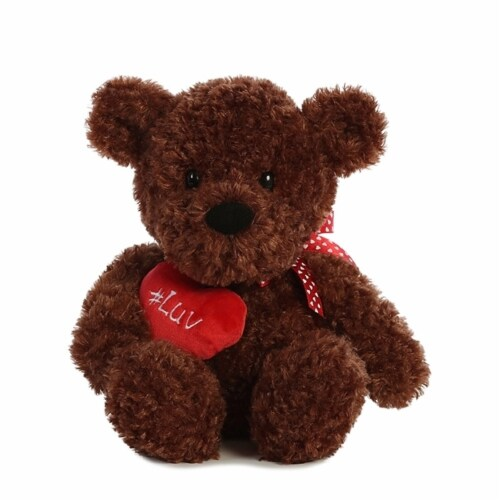 "#Luv 9"" Teddy Bear, Brown Perspective: front"