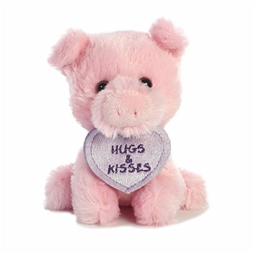 """Luv Bits 4"""" Stuffed Animal, Pig Perspective: front"""