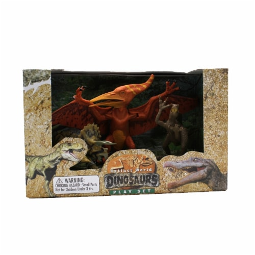 Extinct World Dinosaurs Boxed Playset, Style B Perspective: front