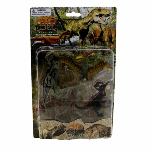 Extinct World Dinosaurs Blister Pack Playset, Style B Perspective: front