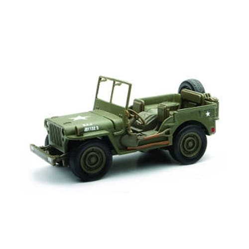 1/32 Die-Cast Car With Pullback Action, Jeep Willys Perspective: front