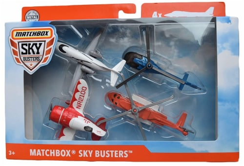 Matchbox Sky Busters Airplane 4-Pack, Style B Perspective: front