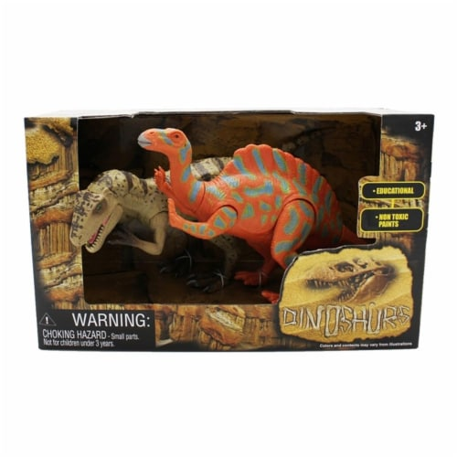 Extinct World Dinosaur Duo Boxed Playset, Style C Perspective: front
