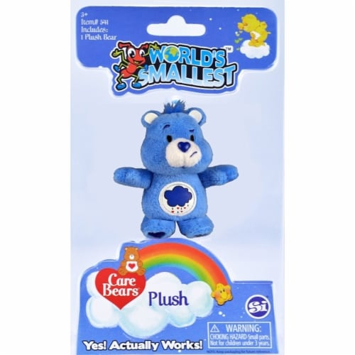 Worlds Smallest Care Bears, Blue Grumpy Bear Perspective: front