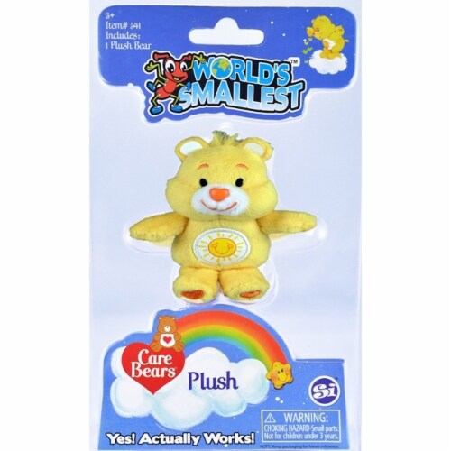Worlds Smallest Care Bears, Yellow Funshine Bear Perspective: front