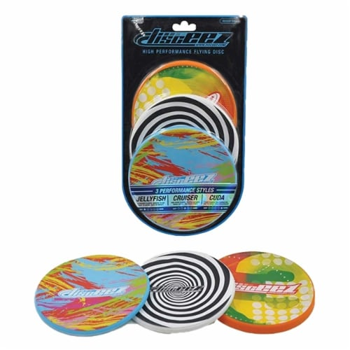 Disceez High Performance Flying Dic, 13cm, Assorted (Pack of 3), Paint Perspective: front
