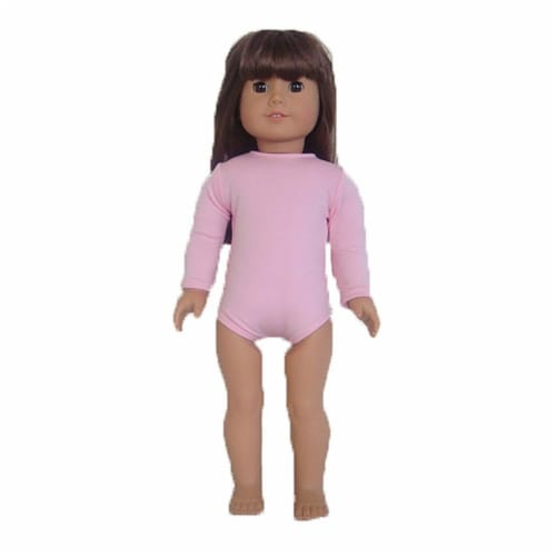 "18"" Doll Clothing Pink Dance Leotard Perspective: front"