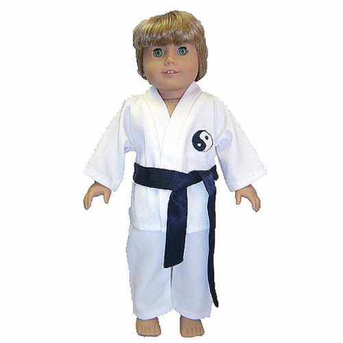 """18"""" Doll Clothing Karate Outfit Perspective: front"""