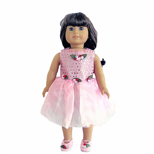 "18"" Doll Clothing Pink Dancing Dress Perspective: front"