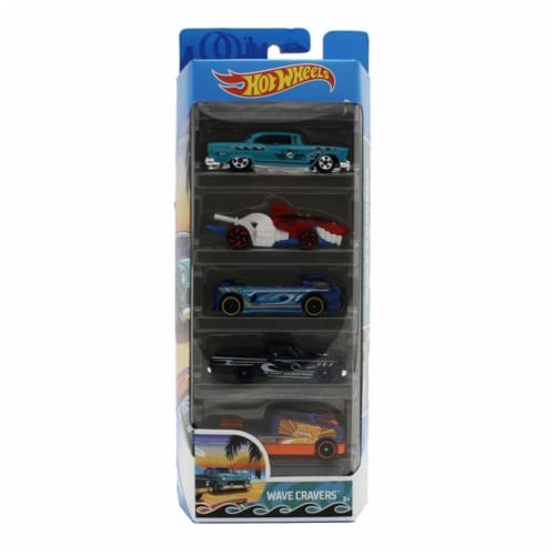 Hot Wheels 5 Pack, Wave Cravers Perspective: front