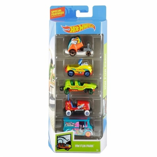 Hot Wheels 5 Pack, HW Fun Park Perspective: front