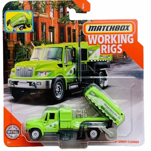 Matchbox Working Rigs International Workstar Street Cleaner Perspective: front