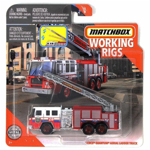 Matchbox Working Rigs Pierce Quantum Aerial Ladder Truck Perspective: front