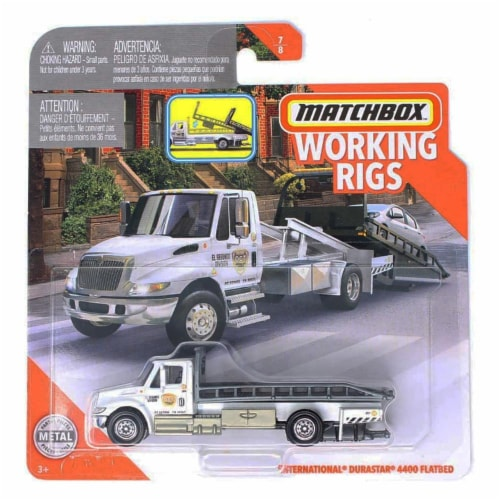 Matchbox Working Rigs International Durastar 4400 Flatbead Perspective: front
