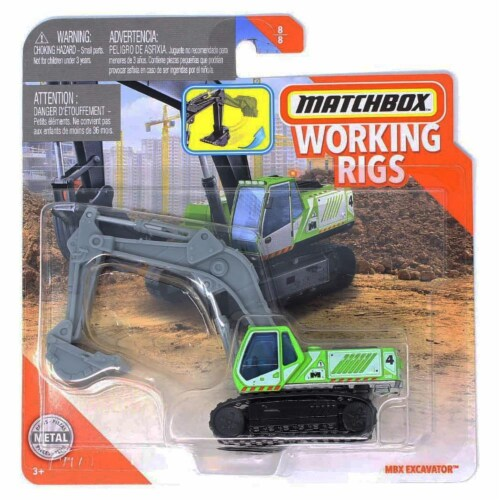 Matchbox Working Rigs MBX Excavator Perspective: front