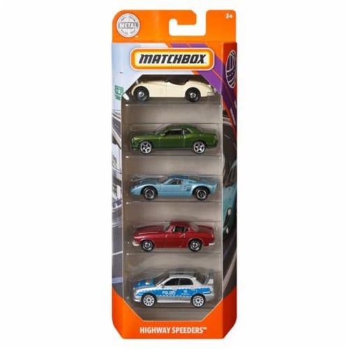 Matchbox 5 Pack, Highway Speeders Perspective: front