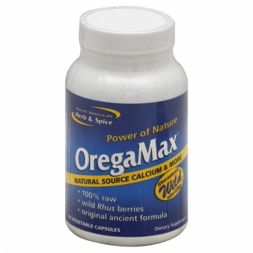 North American Herb & Spice OregaMax Vegetable Capsules Perspective: front