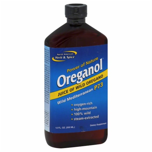 North American Herb & Spice Juice of Oregano Dietary Supplement Perspective: front