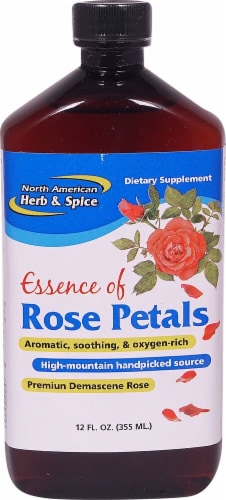 North American Herb & Spice Essence of Pure Rose Petals Dietary Supplement Perspective: front