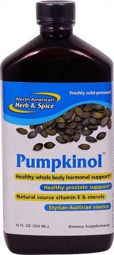 North American Herb & Spice Pumpkinol Cold Pressed Pumpkin Oil Perspective: front