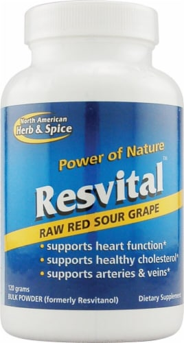 North American Herb & Spice Resvital Raw Red Sour Grape Powder Perspective: front