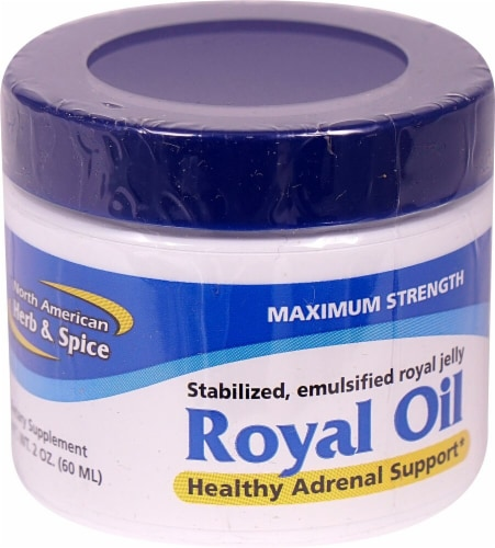 North American Herb & Spice Maximum Strength Royal Oil Perspective: front
