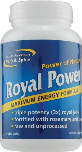 North American Herb & Spice Royal Power Vegi Caps Perspective: front