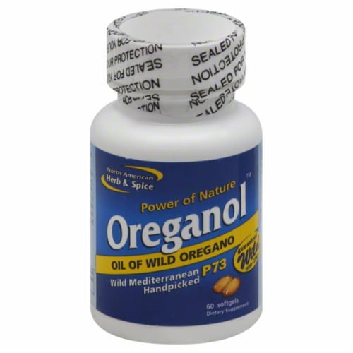 Power of Nature Oreganol Oil of Wild Oregano Softgels Perspective: front