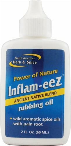 North American Herb & Spice Inflam-eez Rubbing Oil Perspective: front