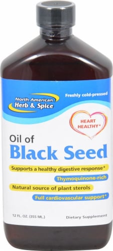 North American Herb & Spice Oil of Black Seed Perspective: front