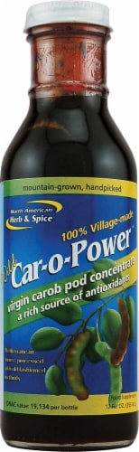 North American Herb & Spice Car-o-Power Virgin Carob Pod Concentrate Perspective: front