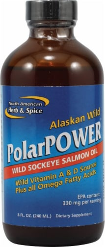 North American Herb & Spice  PolarPower™ Wild Sockeye Salmon Oil Perspective: front