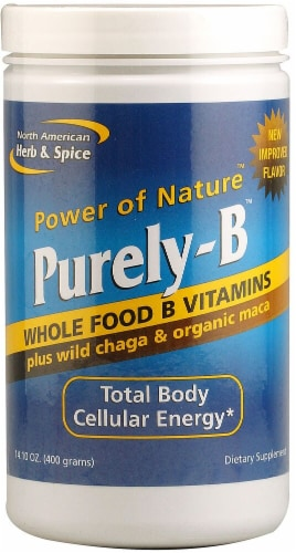 North American Herb & Spice Purely-B Whole Food B Vitamins Perspective: front