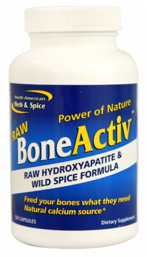 North American Herb & Spice  BoneActiv™ Raw Hydroxyapatite & Wild Spice Formula Perspective: front