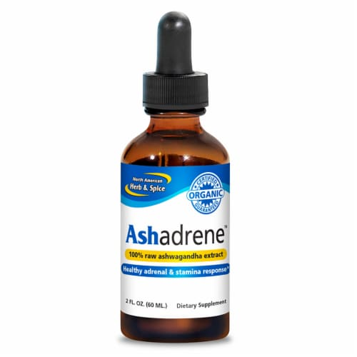 North American Herb and Spice Ashadrene Raw Drops, 2 Fluid Ounces Perspective: front