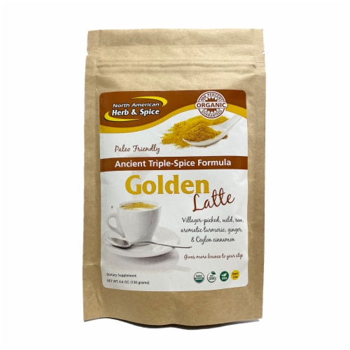 North American Herb and Spice TurmaMilk Wild & Organic Golden Milk Mix, 4.6 Ounces Perspective: front