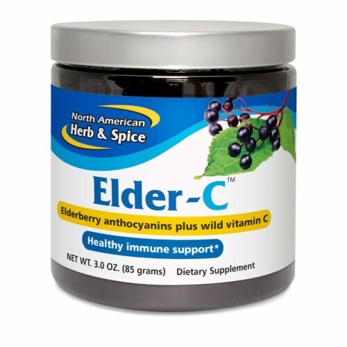 North American Herb & Spice Elder-C Powder, 3 Ounces Perspective: front