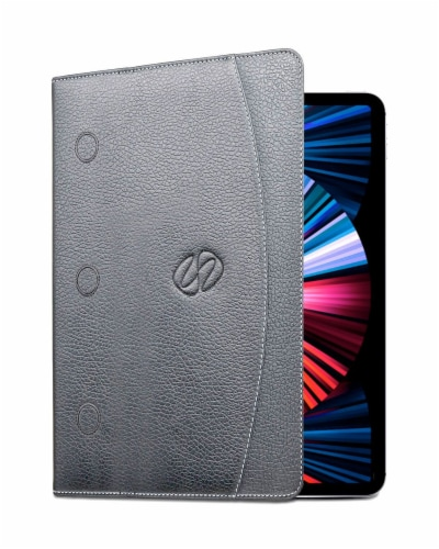 MacCase Leather 12.9  Gen 5 IPad Pro Folio Case - Black Perspective: front