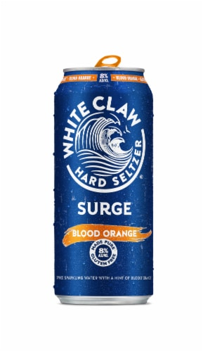 White Claw® Gluten Free Surge Blood Orange Hard Seltzer Can Perspective: front
