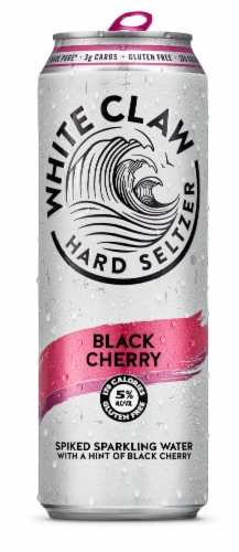 White Claw Black Cherry Hard Seltzer Perspective: front
