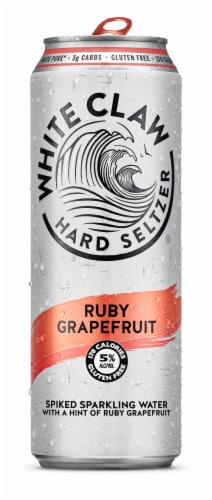 White Claw Ruby Grapefruit Hard Seltzer Perspective: front