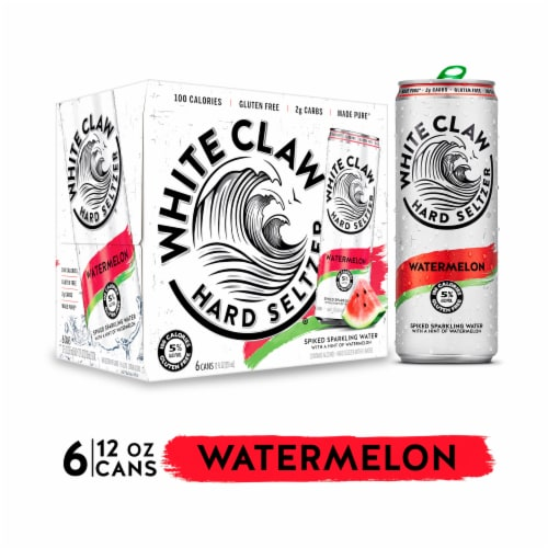 White Claw Watermelon Spiked Sparkling Water Perspective: front